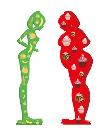 Good and bad diet Illustration