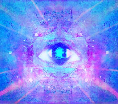 Ilustración de un signo místico de tercer ojo Foto de archivo