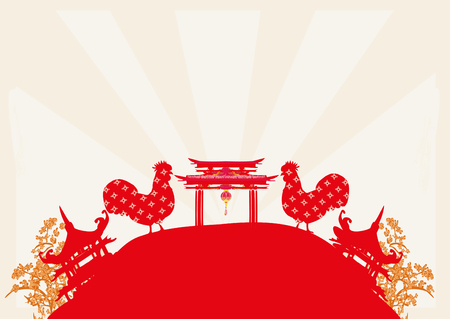 Year of rooster design Illustration