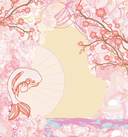 Japanese koi background