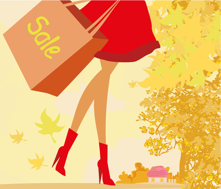 fall fashion: Autumn Sale banner