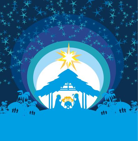 Noël chrétien crèche de l'enfant Jésus dans la crèche