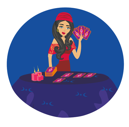 The Fortuneteller woman card