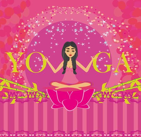 silent: Young woman in yoga pose icon.