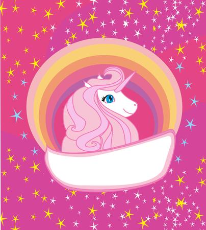 Card with a cute unicorn.