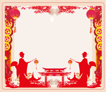 chinese new year celebration icon illustration