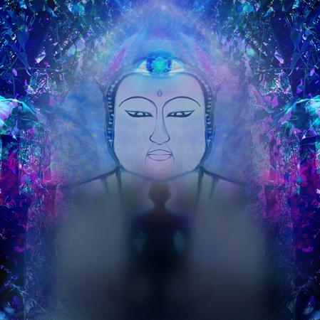 Man with third eye, psychic supernatural senses