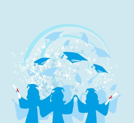 Graduation girls banner.