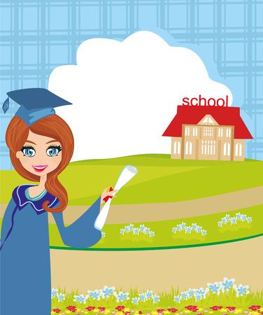 School-College Graduation Girl.