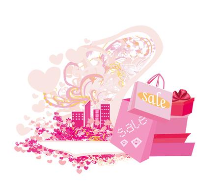 Shopping sale card