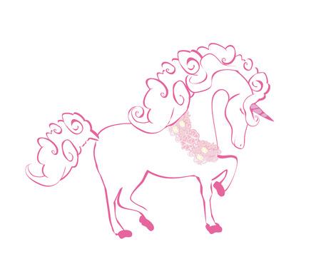 Cartoon unicorn isolated illustration