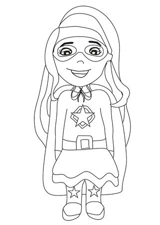 Smiling supergirl isolated illustration Illustration