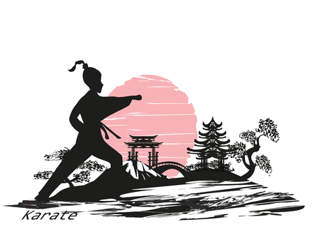 Karate girl design