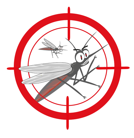 mosquitoes with mosquito target.