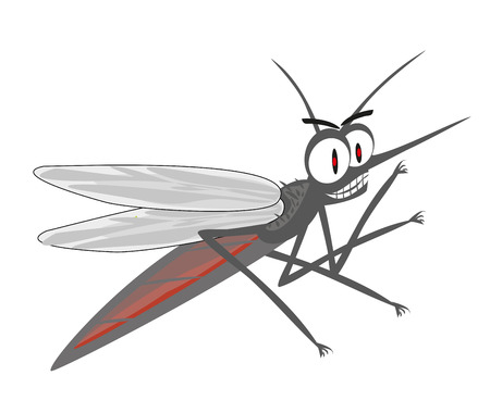 Angry mosquito cartoon Stock Vector - 101973813