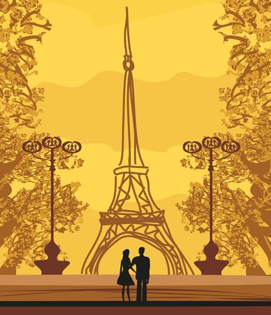 Romantic couple in Paris Reklamní fotografie - 114778752