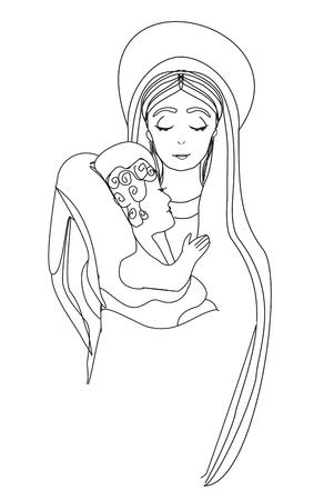 Madonna en kind Jezus
