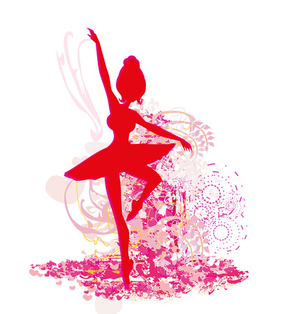 Ballerina - abstract card poster Illustration