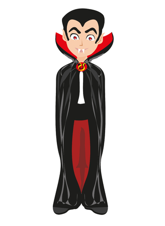 Cartoon vampire boy