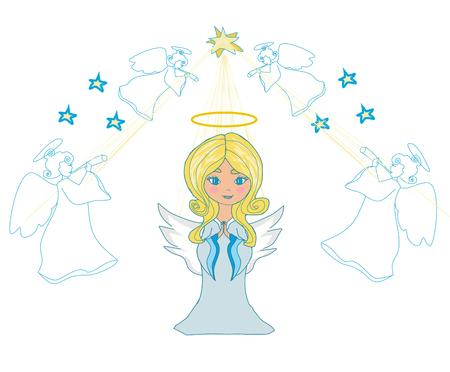 祈る小さな天使たち