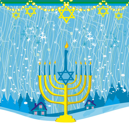 Hanukkah Greeting Card. Illustration