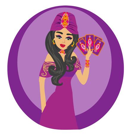 beautiful Fortuneteller woman 写真素材 - 116960888