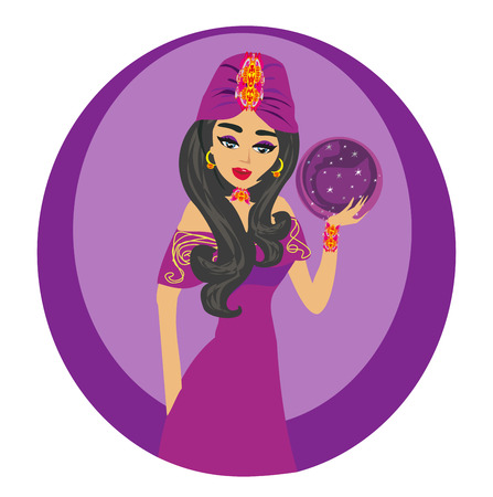 beautiful Fortuneteller woman Illustration