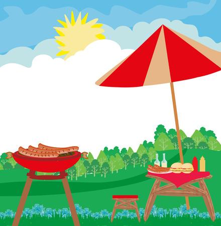 Barbecue Party Invitation card