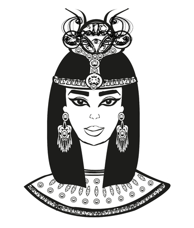 portrait of the beautiful Egyptian woman.