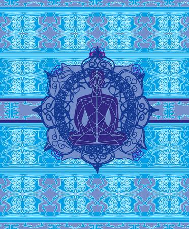 Man meditate abstract card