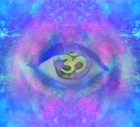 Illustration of a third eye mystical sign Stockfoto
