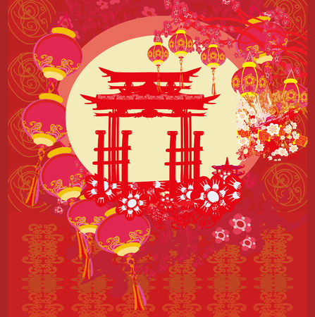 Mid-Autumn Festival for Chinese New Year - card
