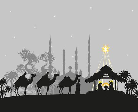 Birth of Jesus in Bethlehem Ilustracje wektorowe