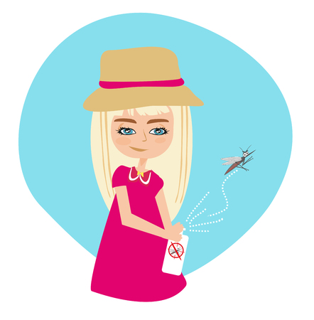 Insect repellent kid Illustration