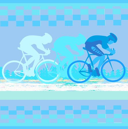 Peleton Cycle race - abstract card