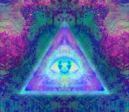 Illustration of a third eye mystical sign Stock fotó