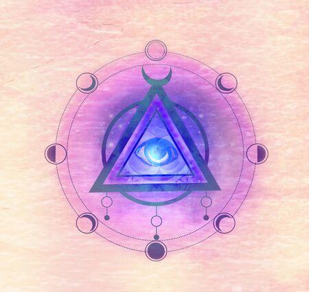 Illustration d'un signe mystique du troisième œil