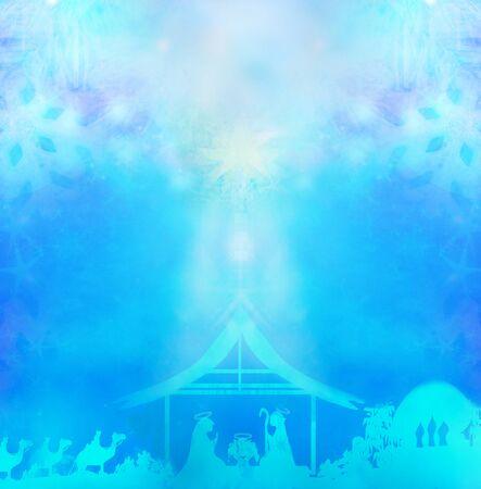 Birth of Jesus in Bethlehem 写真素材