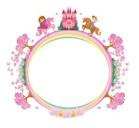 Beautiful prince and princess - frame