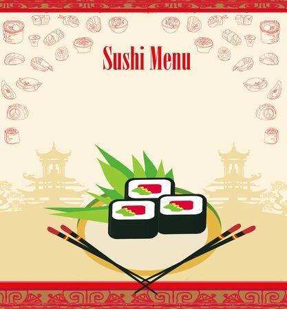 Sushi menu - artistic frame card