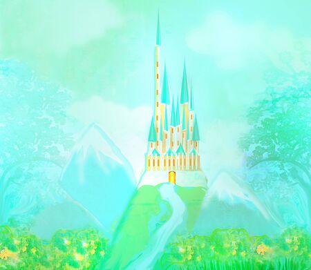 Magic FairyTale Princess Castle Stok Fotoğraf