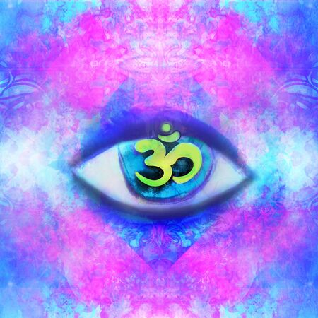 Illustration of a third eye mystical sign Reklamní fotografie