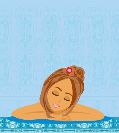 girl relaxes in spa salon