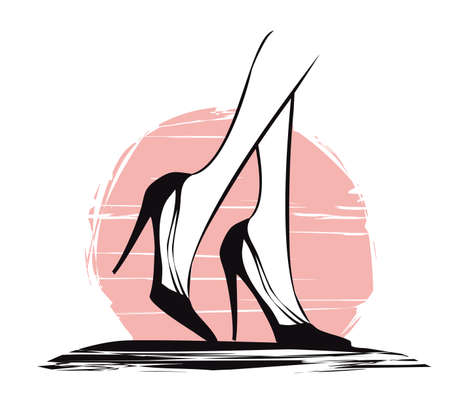 beautiful black high heels - banner