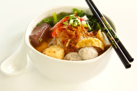 Asian rice noodle photo