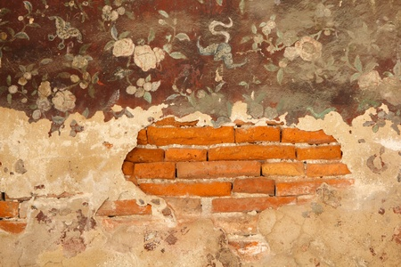 estuco: La pintura mural antigua en Wat Suthat