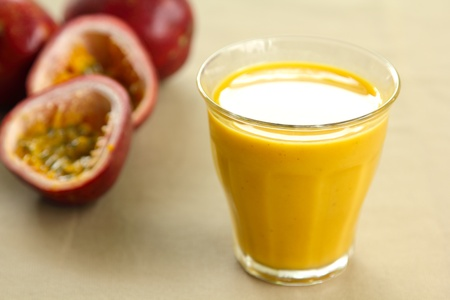 Passion fruit juice by fresh passion fruit