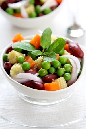Bean & pea salad photo