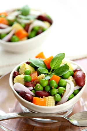 Bean & pea salad Stock Photo