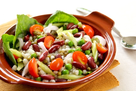 Bean & grains salad photo